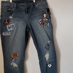 NWT Torrid Disney Mickey Mouse Patch Jean's 18 Reg